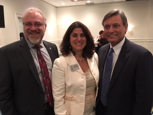 (L-R): Dean Jon M. Garon; Jamie Finizio-Bascombe (JD 1993), NSU Law Board of Governors Member; and Chief Justice Jorge Labarga, Chief Justice of the Florida Supreme Court.